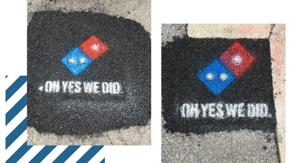 Dominos Pizza logo sign