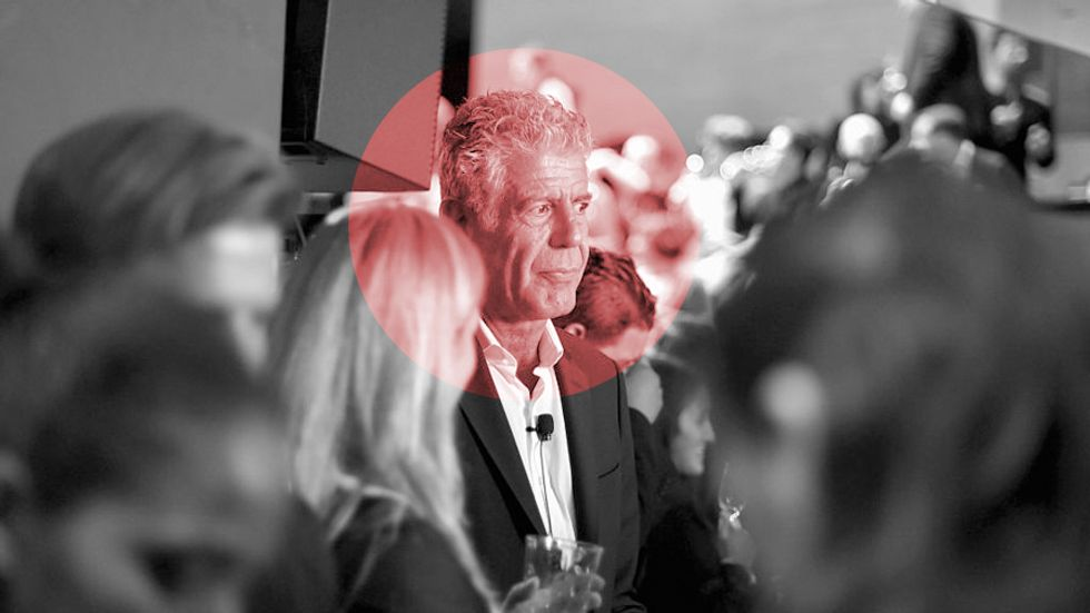 Anthony Bourdain attends a screening of 'Anthony Bourdain Parts Unknown: Japan with Masa' at Samsung 837 on November 7, 2016 in New York City. (Photo by Mike Coppola/Getty Images for Turner)