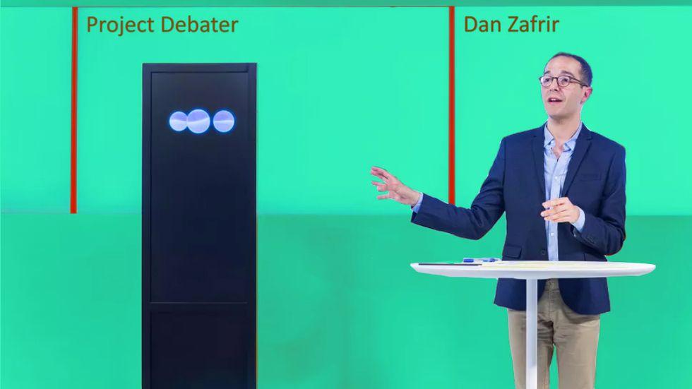 IBM's A.I. beats professional debater Dan Zafrir at his own game. (Credit: IBM)