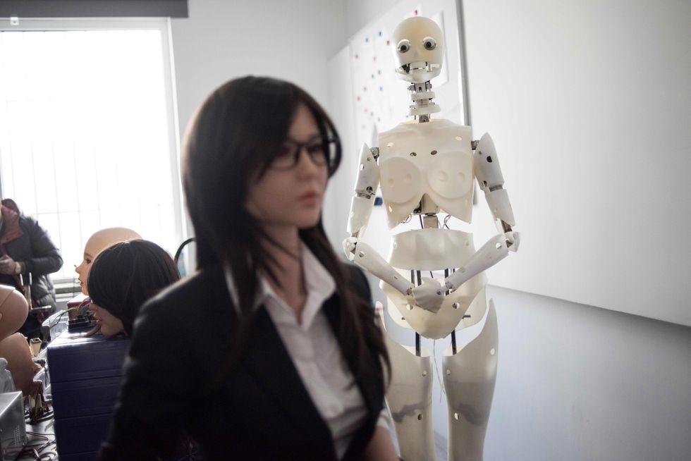 Sex robot manufacturing plant.