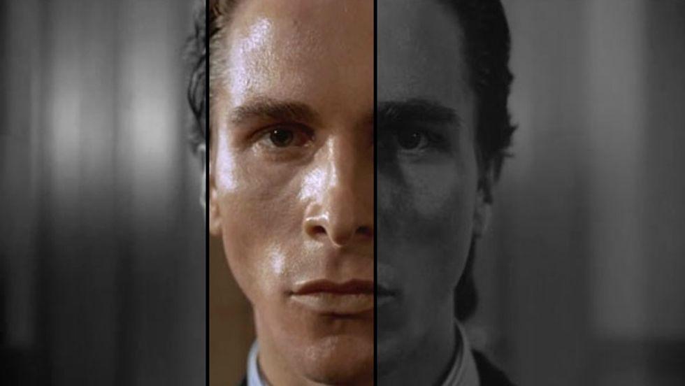 Christian Bale portrays Patrick Bateman in American Psycho.