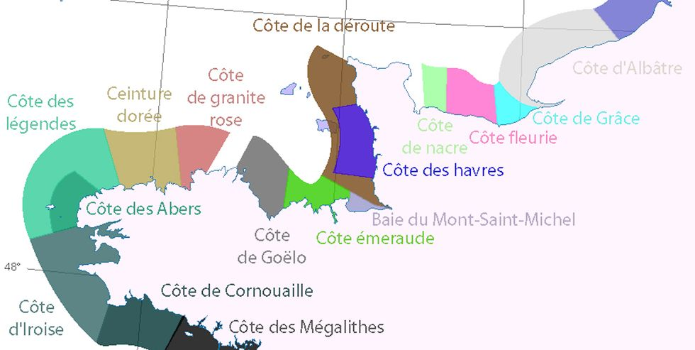 A map of the French Riviera's 36 coasts