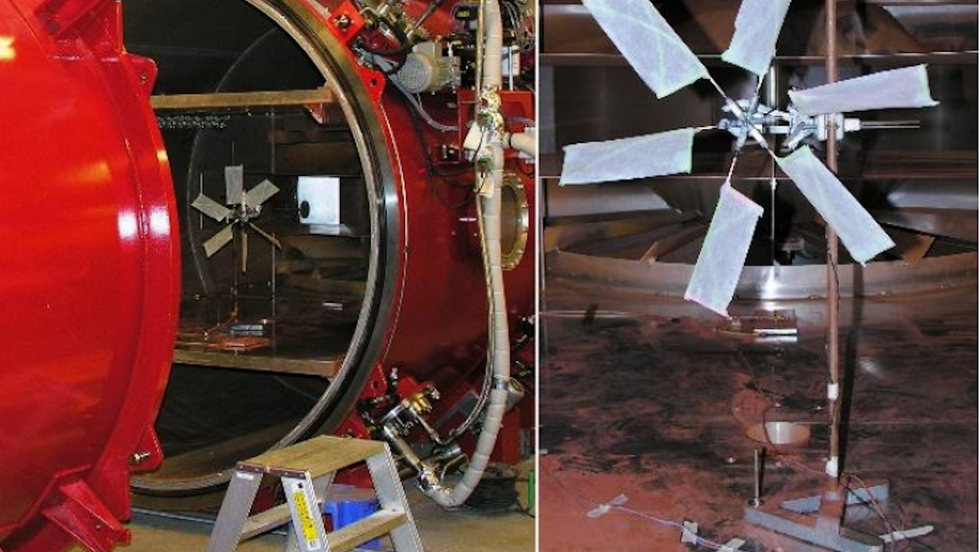 Wind tunnel and turbine design for power on Mars. (Credit: Mars Workshop on Amazonian Climate 2018)