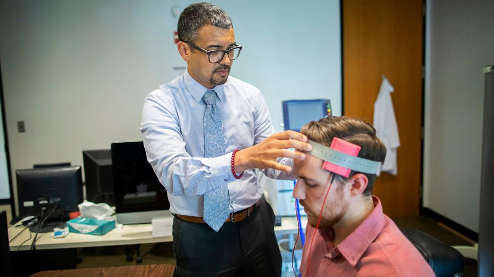 Brain stimulation. (Credit: University of Pennsylvania)