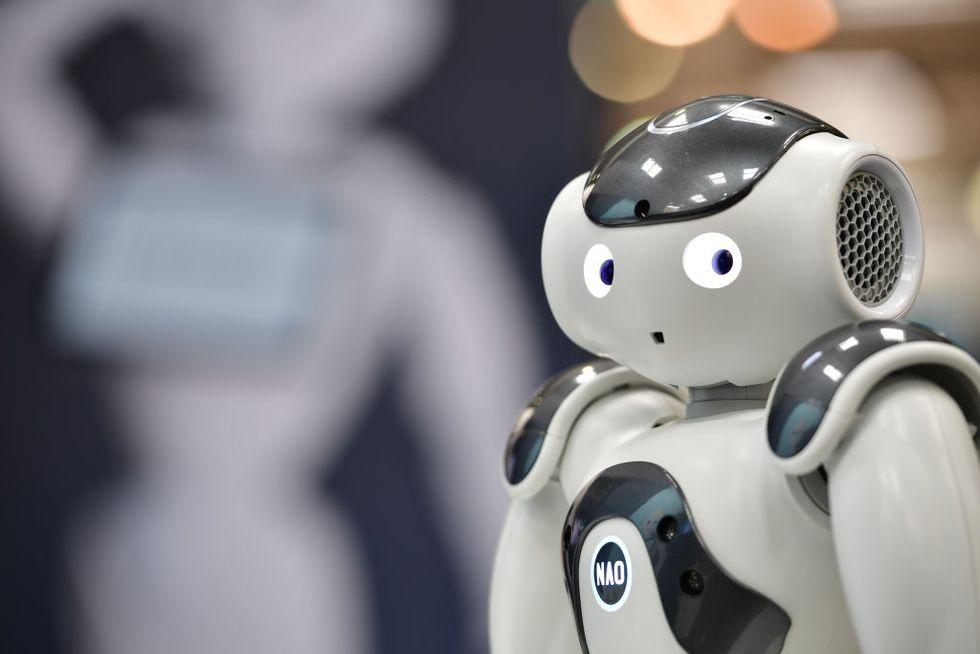 Robot at fair, 2018