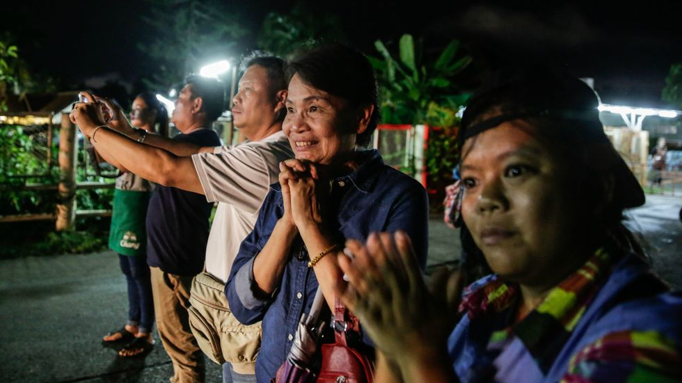 All 12 boys and soccer coach rescued safely from flooded Thai cave