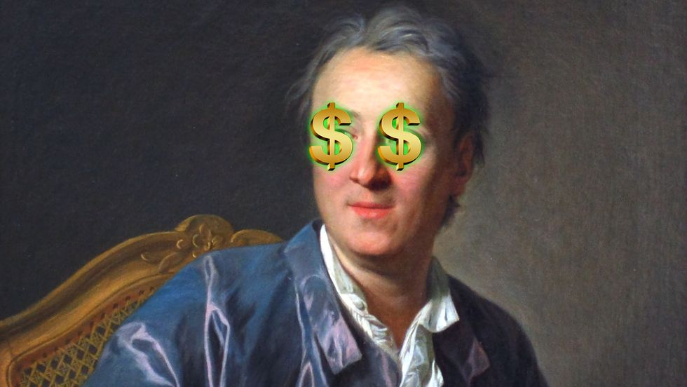 Diderot with money