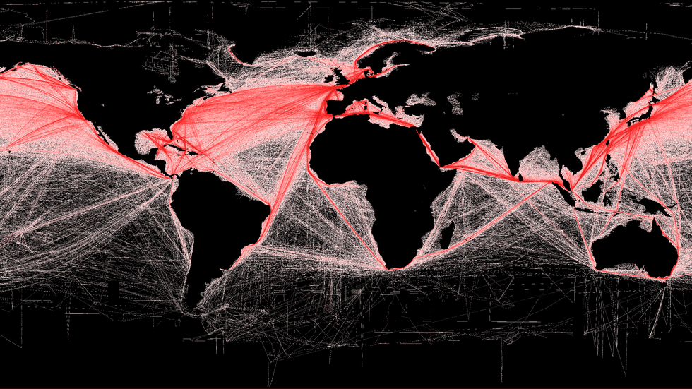 shipping routers red and black