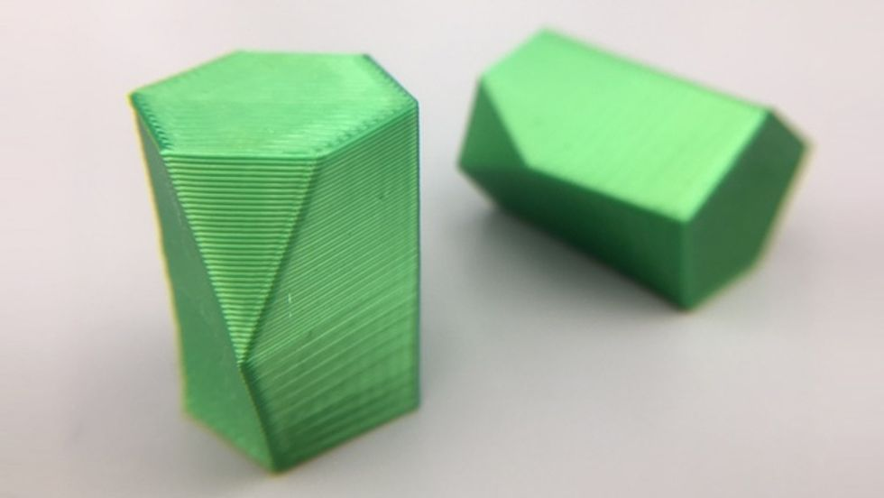 A 3D-printed design of a scutoid. (Credit: mathgrrl via Thingiverse)