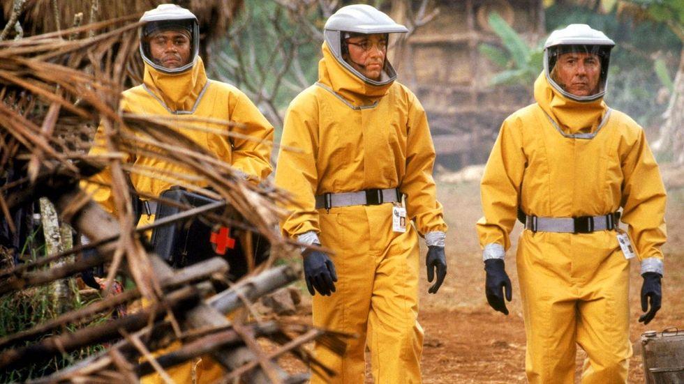 doctors in HAZMAT suits