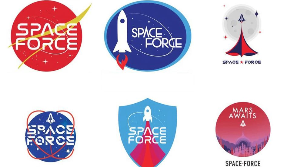 Space Force logos designed by Trump PAC