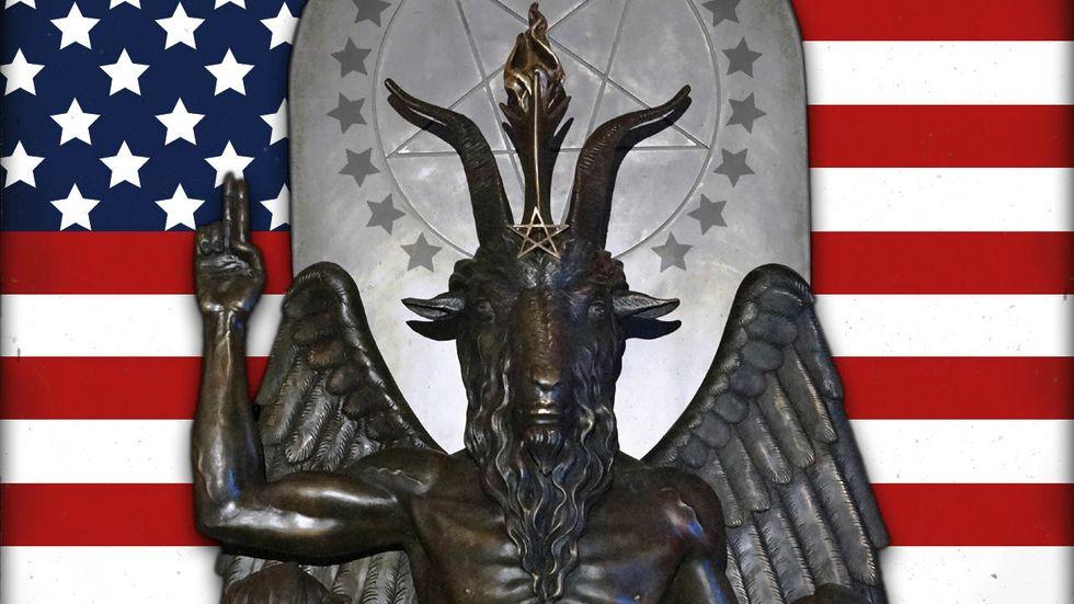 Satanic 'Baphomet' statue in Arkansas
