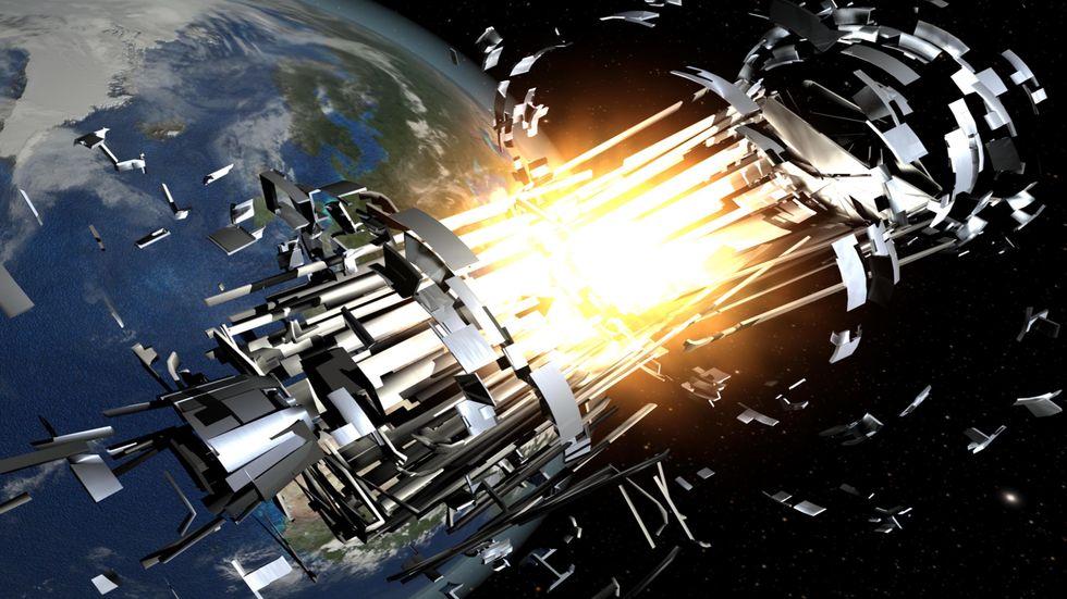 Rocket body explosions. Credit: ESA