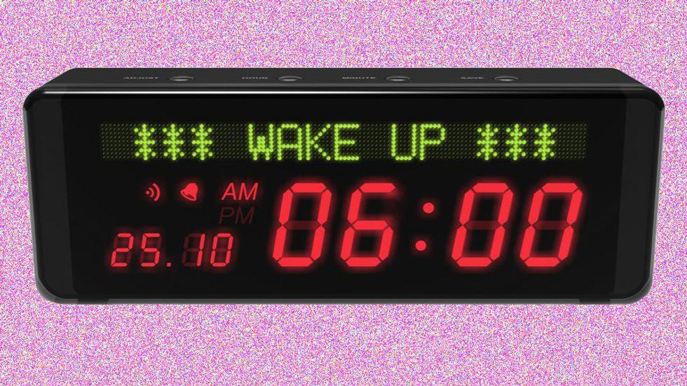 An alarming clock