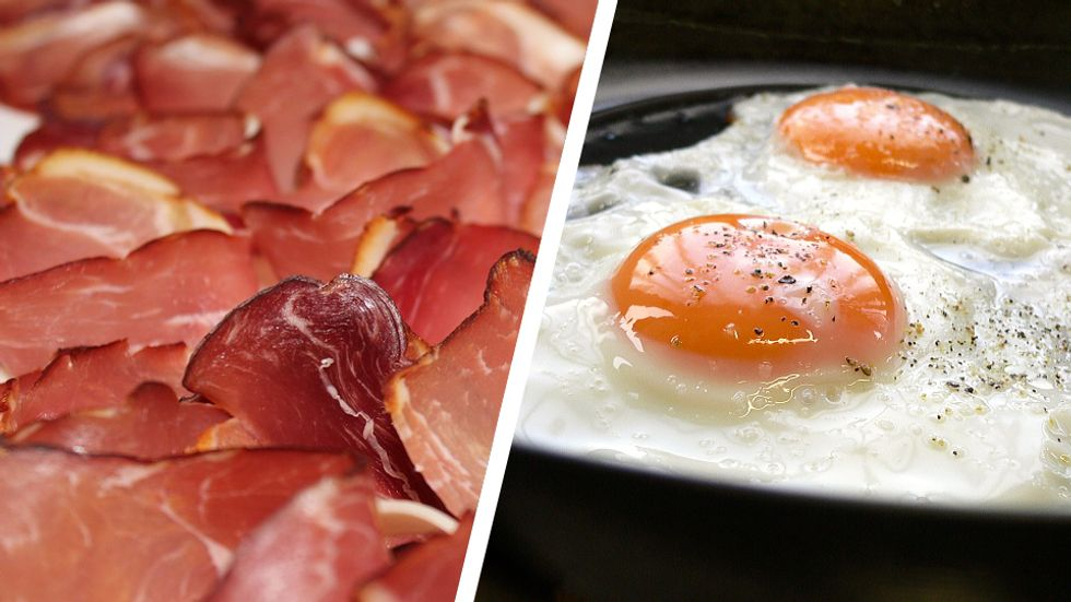 bacon or ham and eggs: foods on the keto diet