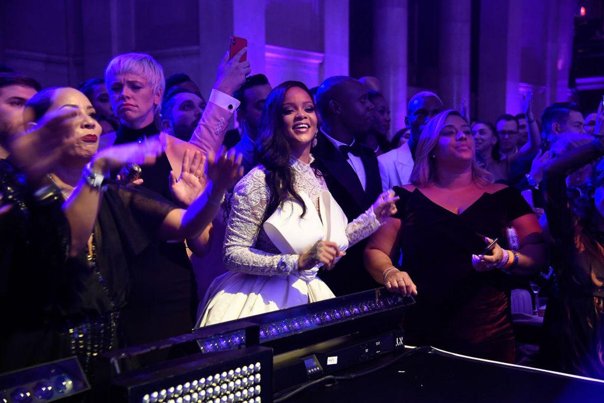 Rihanna Fangirls Over Childish Gambino at the Diamond Ball