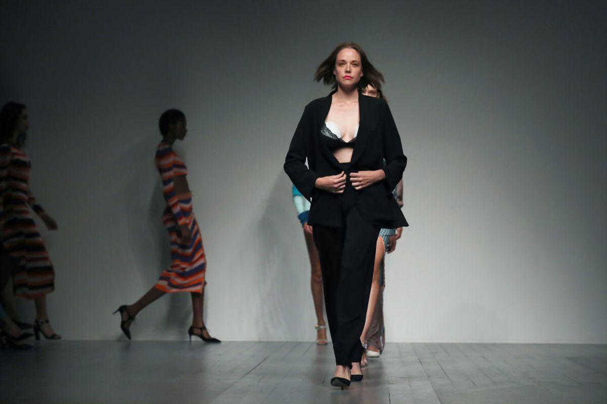 Model Rocks a Breast Pump at London Fashion Week