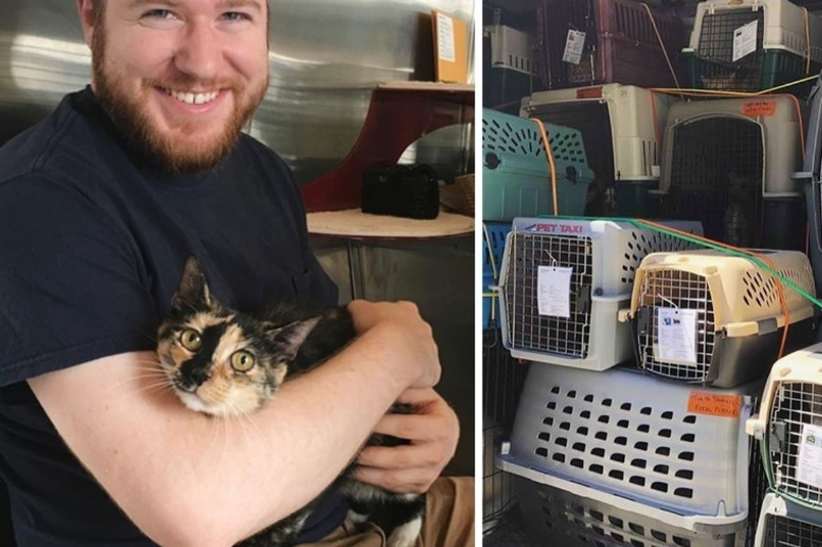 Rescuers Save 15 Cats and 21 Dogs From Shelter Threatened by Hurricane Florence and Leave No Animals Behind