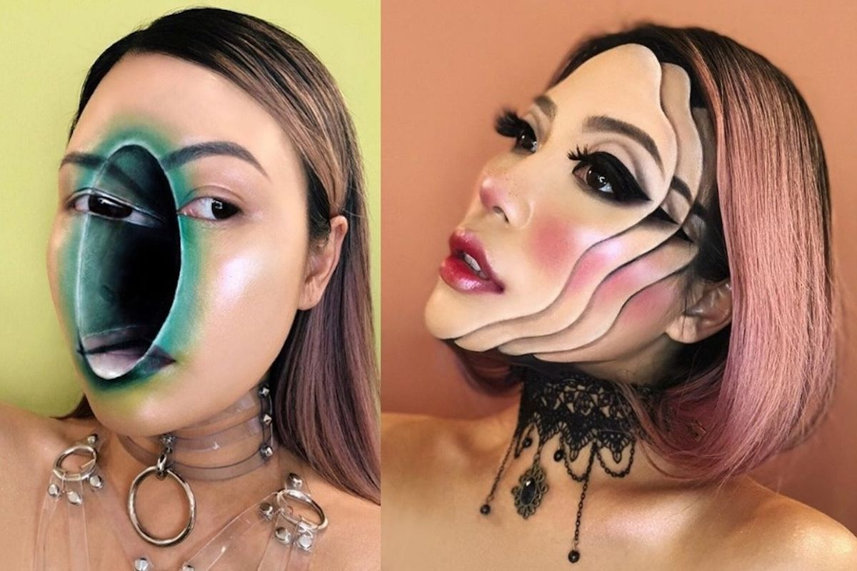 This Makeup Artist Transforms Her Face Into Optical Illusions
