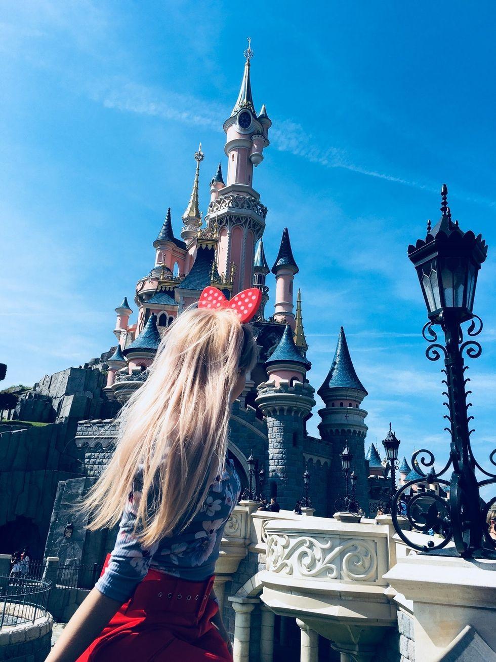 Girl at Disneyland