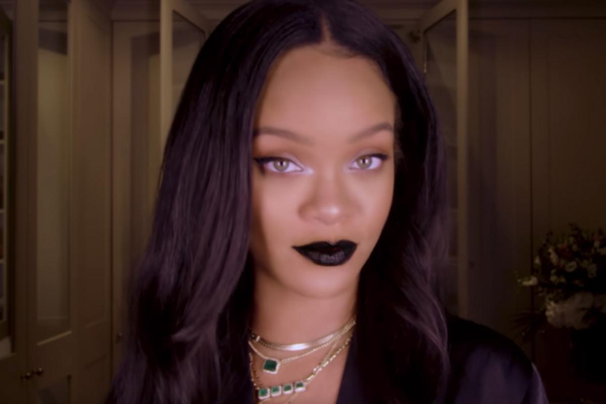 Watch Rihanna Go Goth Chic