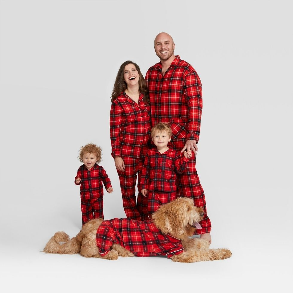 e7ec6fef8 Holiday Red Plaid Notch Collar Family Pajamas Collection, Target,  $11.99-$24.99