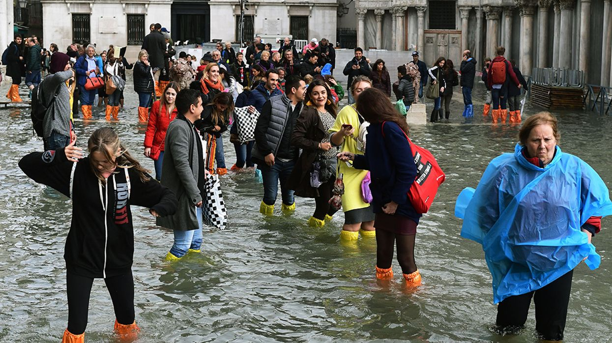 70% of Venice Flooded by Highest Tide in at Least a Decade