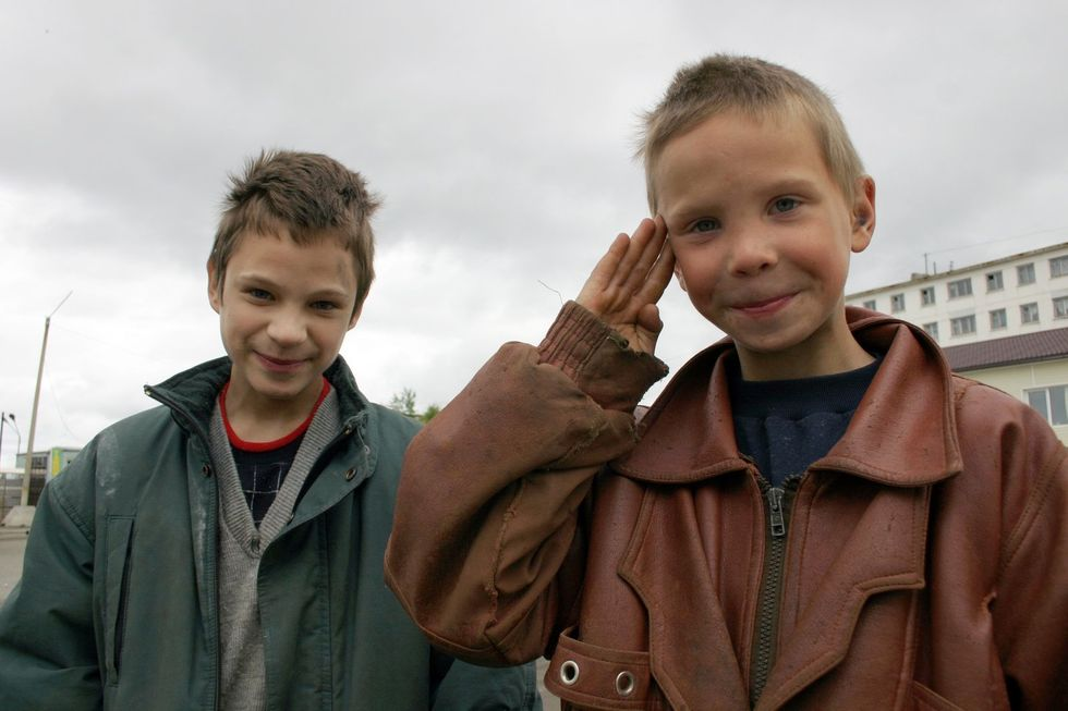 Two boys embodying the future of America