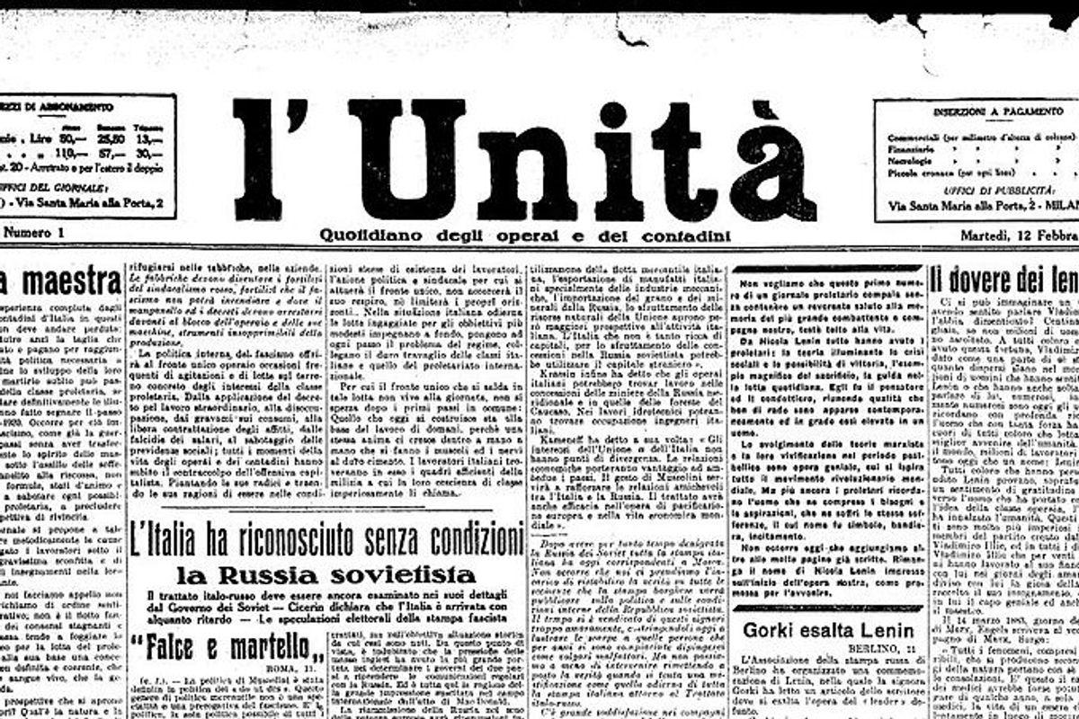 Dopo averla affossata, Renzi si compra «L'Unità» con due lire