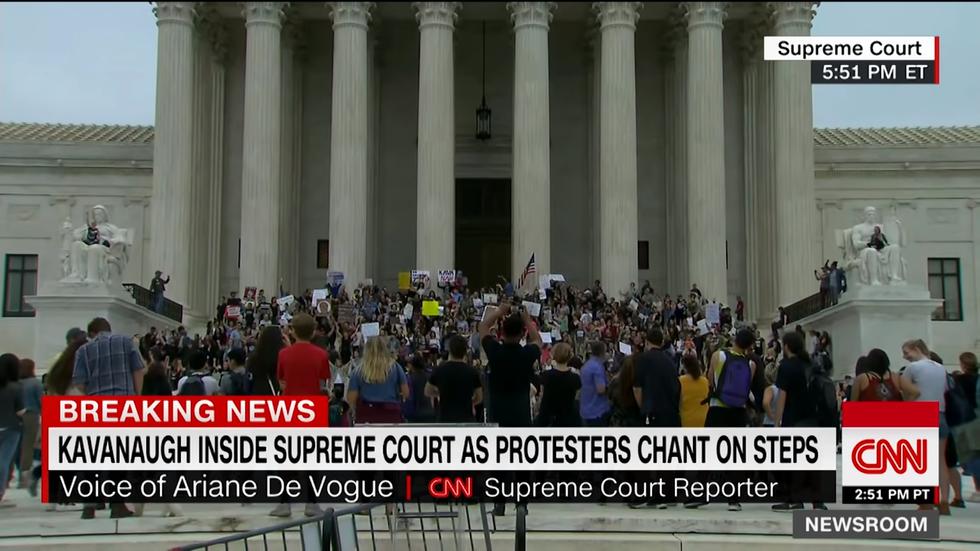 Protestors on capital hill