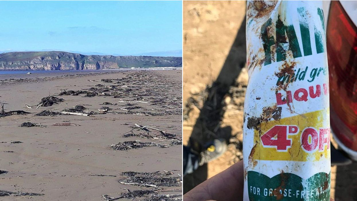 You Won't Believe the Age of This Plastic Bottle Found on a UK Beach