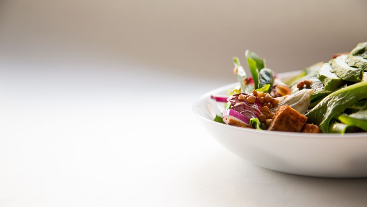 Ceramic bowl with vegetables