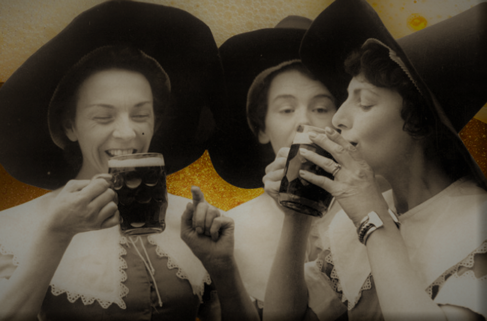 witches drinking beer
