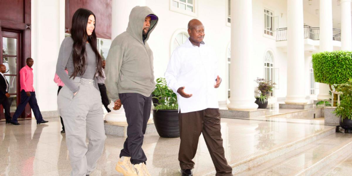 Inside Kim and Kanye's Surreal Meeting With Ugandan President