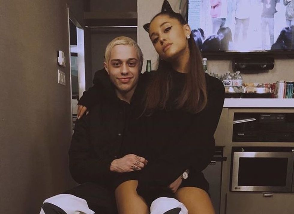 There Is A Crazy Rumor Pete Davidson Sent Mac Miller Intimate Pics Of Ariana To 'Claim Her'