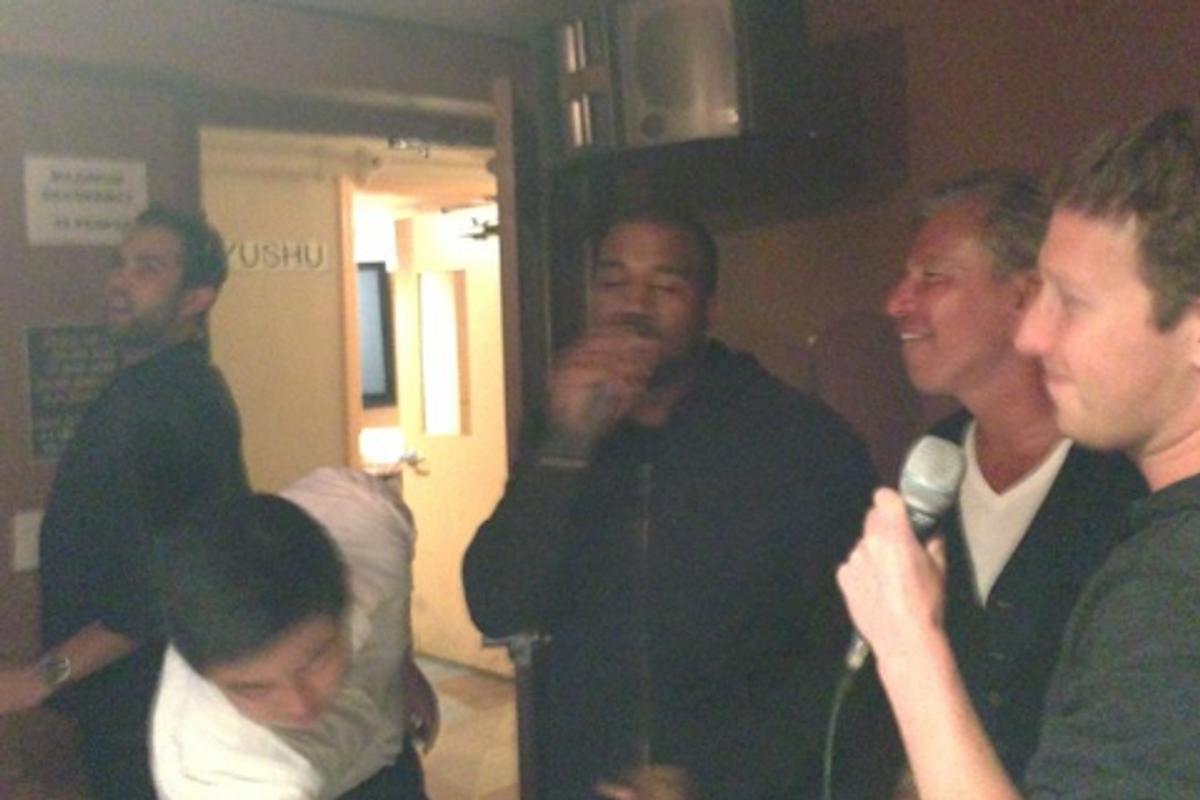 Kanye West Did Karaoke With Mark Zuckerberg