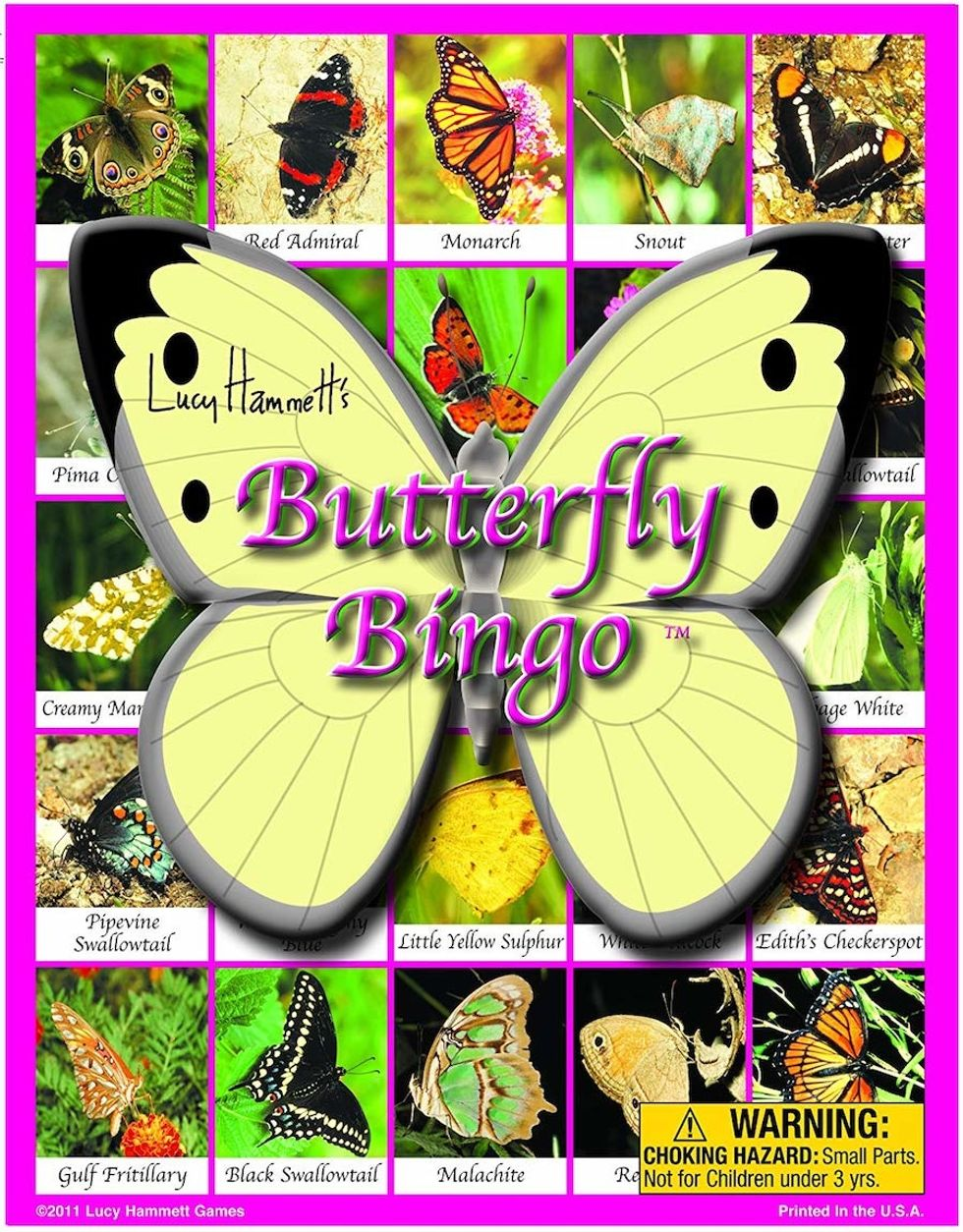 kids butterfly bingo book