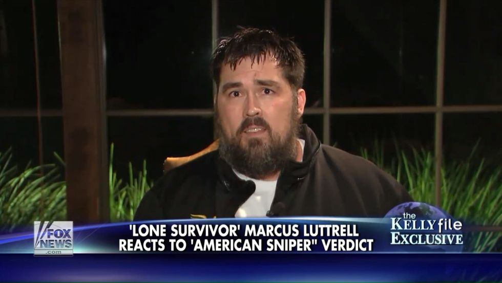 Lone Survivor' Marcus Luttrell Has to Restrain Himself On