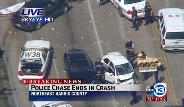 Houston Cops Fatally Shoot Car Chase Suspect on Live TV