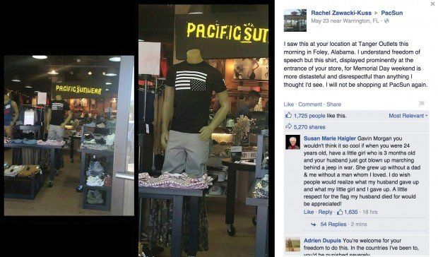 PacSun Feels the Wrath of Customers, Veterans Over American