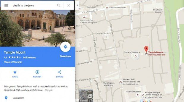 Someone Discovered Google Map Search for \'Death to the Jews ...