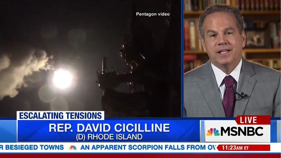 Dem Rep. Cicilline promotes crazy Trump conspiracy theory about North Korea, Syria and MOAB