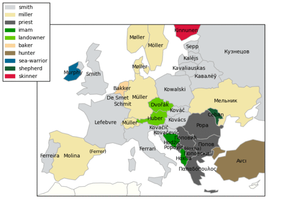 What is the most popular last name in Europe? - Big Think