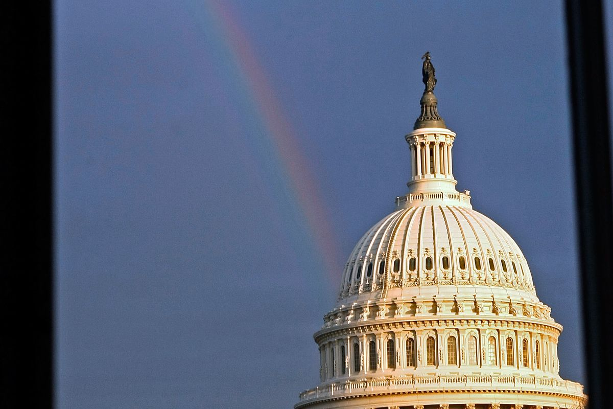 Rainbow Shines Down On The Capitol, Hope Lives On