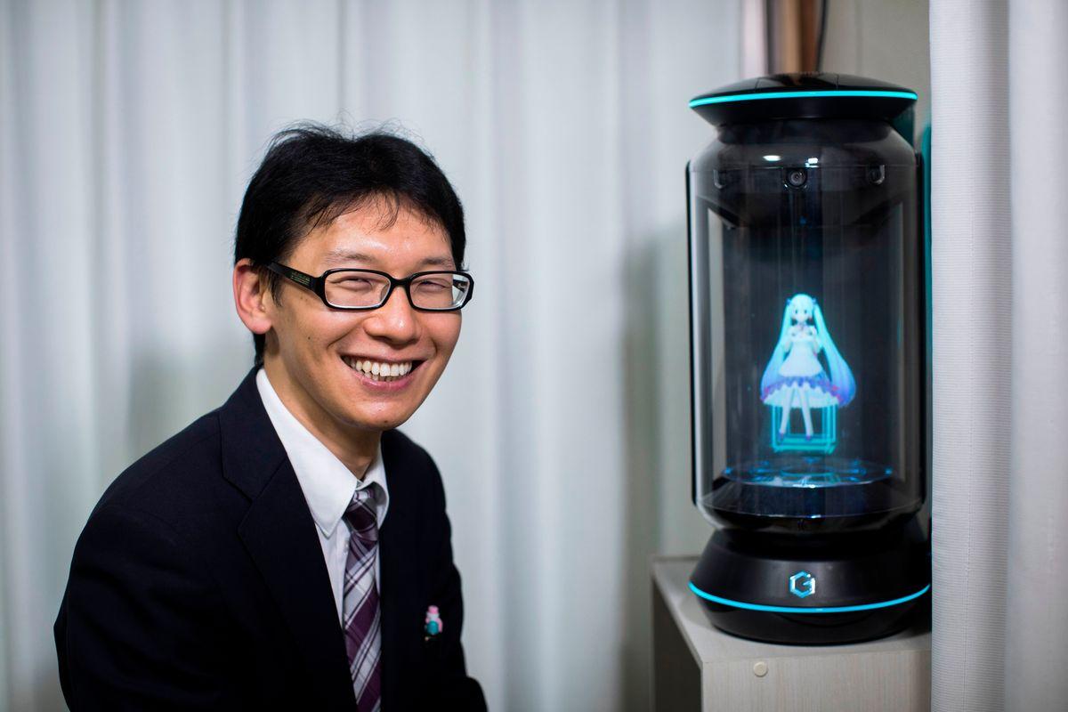 A Man Has Married Japanese Hologram Hatsune Miku