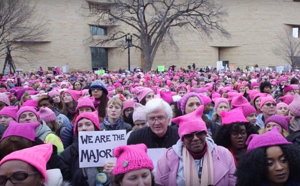 13e895055 Pink pussyhats of the anti-Trump Women's March are falling out of ...