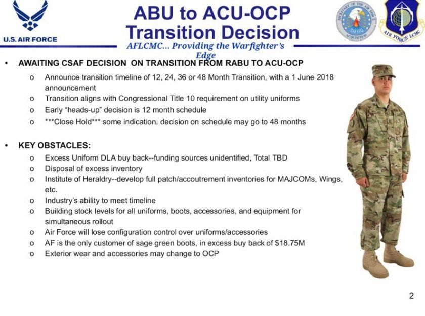 ecd977679b0 The Air Force May Switch To Army Camo Sooner Than Expected — For An ...