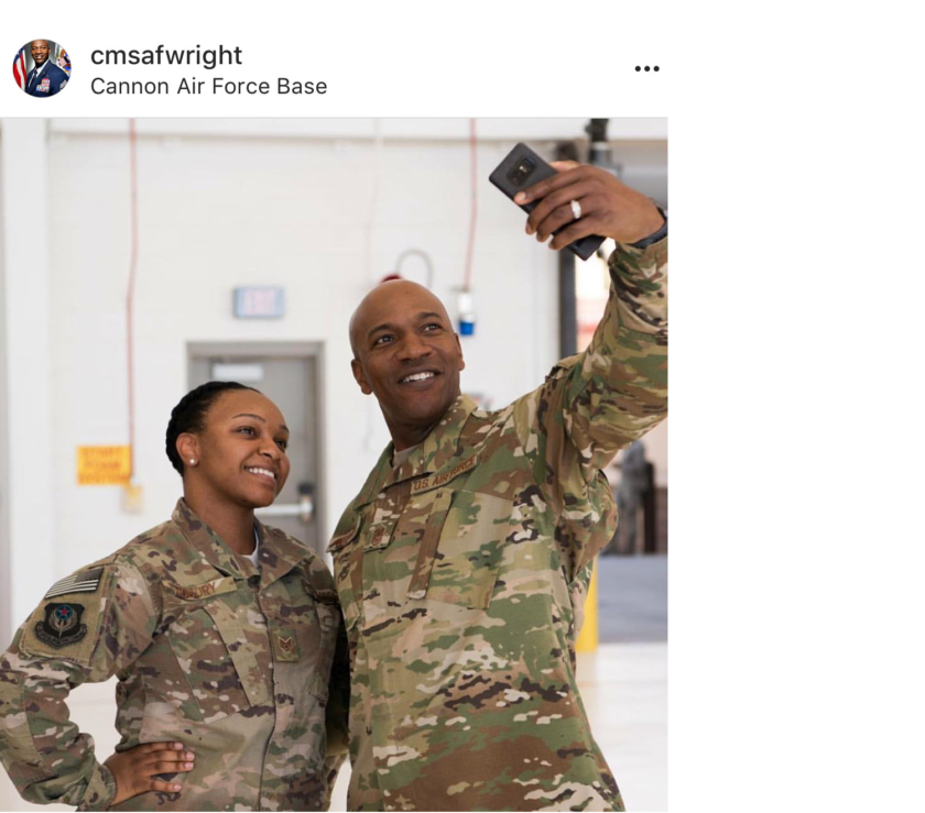 Top Enlisted Airman Wears The OCP And Airmen Think He's