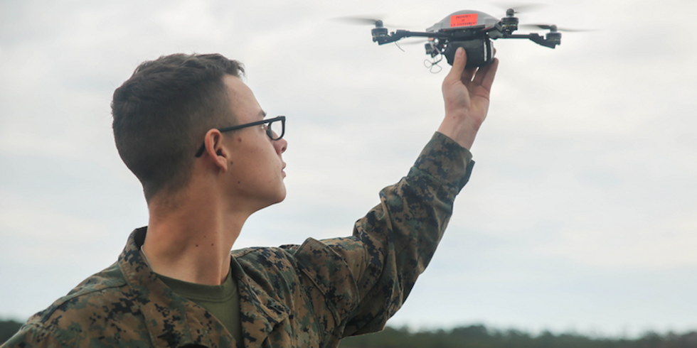 Marines Unveil New Badges For Drone Operators, As If They