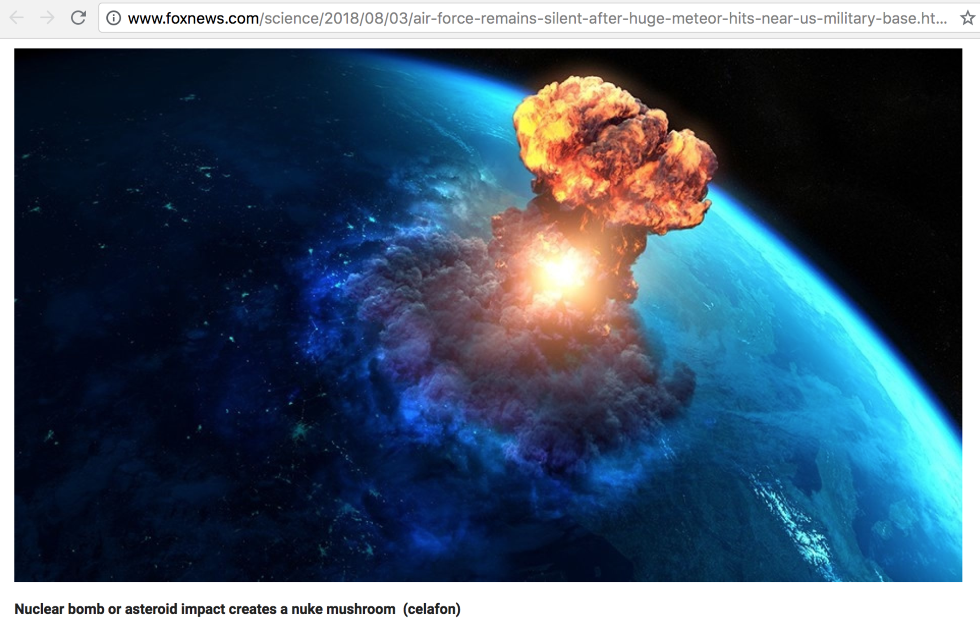 No, A Huge Meteor Did Not Threaten A US Base With